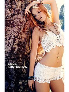 Anna Kosturova #Crochet Swimwear