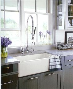 Love The Farm Sink And The Commercial Faucet.