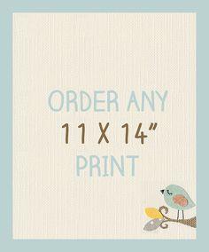 11 x 14 Nursery Print, Big Nursery Prints by LittleMonde, $23.00