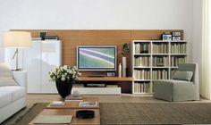 wall tv units flat screen television Modern TV and Entertainment Wall Units Designs, Italian Furniture