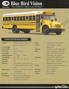 Make Blue Bird Model School Bus Year 1999 Exterior Color White Interior Color Gray Vehicle