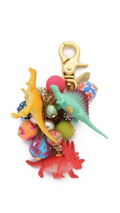 Lenora Dame Dino Bag Charm - I'm pretty sure I need this in my life.
