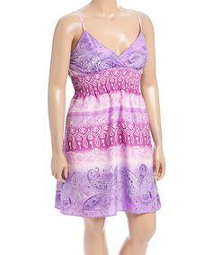 Look at this #zulilyfind! Purple Gradient Spaghetti-Strap Dress - Plus #zulilyfinds
