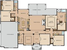 one story Austin house plan. Would change to a 2 car garage with storage and a few little things. But overall I like it!