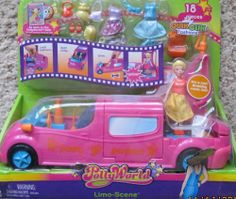 Polly Pocket POLLY WORLD LIMO SCENE Car w LIMOUSINE, POLLY Doll & 18 Pieces (2006) by Mattel. $118.99. *CAUTION: Small Parts & Small Magnets. For Box Condition see CONDITION NOTE or Email Seller for Details.. For Ages 4+ Years. All the provided details are to the best of my ability & may not be exact; colors, styles, sizes & details may vary.. Limo is also Dressing Room, as seen in Polly World Movie DVD (DVD Sold Separately!). Directions on Package!. Polly Pocket Polly Worl...