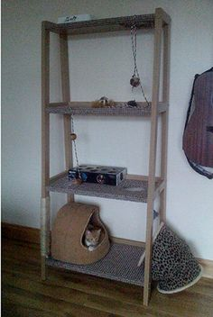 DIY Cat Tower Shelf
