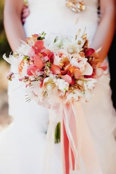 Wedding Ideas: pink-red-white-elegant-bouquet
