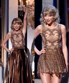I really like this outfit. I like the color and the fact that it was a long skirt at first. I didn't actually see the performance but I have the feeling it was epic.