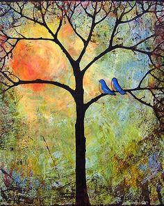 Image of Sunshine Tree Matted Signed Print