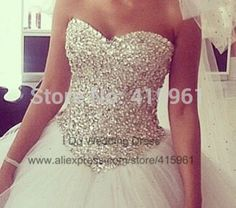 2014 Unforgettable Real Model Sweetheart Crystal Wedding Bridal Dresses Ball Gown Vestido Branco W2929