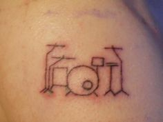 Simple line cute drum kit drummer tattoo. From Show your tattoos - Page 2 - DRUMMERWORLD OFFICIAL DISCUSSION FORUM