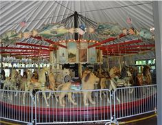 Take a ride on the oldest Looff Stander carousel in the world at Slater Memorial park in Pawtucket, RI (built in 1985)
