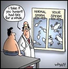 Funny doctor semen sperm count sample joke - click to read