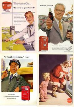 Coca Cola Vintage Advertising and everyone had a smile - http://blog.hepcatsmarketing.com - check out our blog network for more news like this!