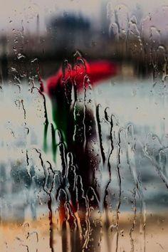 rainy day through glass by Deniz Senyesil Rain Photography, Creative Photography, Street Photography, Rainy Night, Rainy Days, Rainy Day Photos, Rainy Window, Rain Wallpapers, I Love Rain