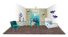 """Filis Guestroom"" by marania ❤ liked on Polyvore featuring interior, interiors, interior design, home, home decor, interior decorating, York Wallcoverings, Cost Plus World Market, Elizabeth Lyons and The Velvet Chair Company"