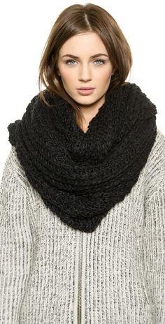 Paula Bianco Chunky Knit Wrap Scarf | SHOPBOP