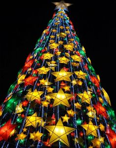 Christmas tree made from parol. Christmas around the #world