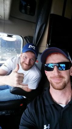 Had an awesome trip down with @DaleJr He learned alot and cant wait to go again #88hauler @nationwide88 @DISupdates