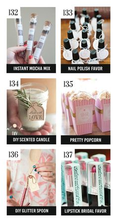 Adorable Bridal Shower Favors-DIY scented candles