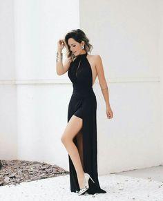 Vestido de festa Black frente unica