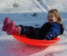 saucer sledding