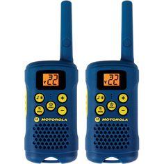 Motorola 2 Way 16 Mile Range 22 Channel Hiking Walkie Talkie Radios w/ Belt Clip UPC - 843677001921 Radios, Nottingham, Cool Things To Buy, Good Things, Stuff To Buy, Kid Stuff, Call Tone, Best Christmas Toys, 10 Year Old Boy