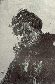 Zorn. Etching. 1905.