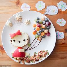 Meriendas divertidas: Kitty
