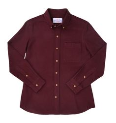 Maroon Cotton Flannel Shirt - Bespoke Shirts by Luxire. Custom made to Perfection