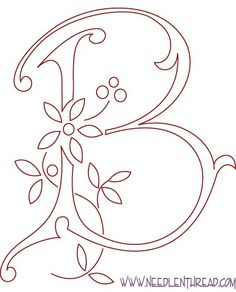 Free Pattern: Monogram for Hand Embroidery | Hand embroidery ...