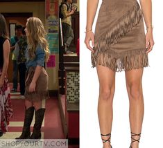 Girl Meets World: Season 2 Episode 22 Maya's Fringe Suede Skirt