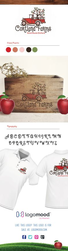 Cortland Farms Logo for sale. Exclusive ready made logos for sale! at logomood.com