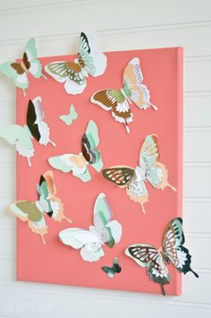DIY Flying Butterfly Wall Hanging