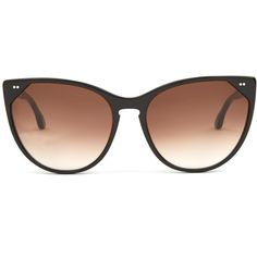 Thierry Lasry Swappy cat-eye sunglasses ($405) ❤ liked on Polyvore featuring accessories, eyewear, sunglasses, black, oversized round sunglasses, cat eye glasses, over sized sunglasses, round cat eye sunglasses and oversized cat eye glasses