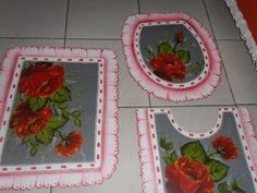 "Vanderson Pinturas: Pintura em tecido emborrachado ""Rosas vermelhas"""