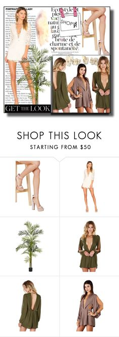"""""""ShopAA  16"""" by k-lole ❤ liked on Polyvore featuring Nearly Natural, Summer, Trendy and Elegance"""