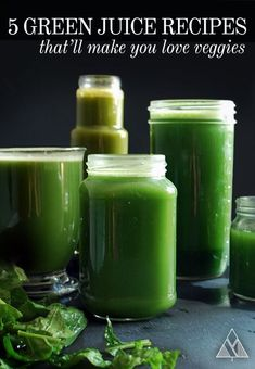 5 Mean Green Juice Recipes That'll Make You Love Vegetables! 5 Mean Green Juice Recipes That'll Make You Love Vegetables! Green Drink Recipes, Healthy Juice Recipes, Juicer Recipes, Healthy Juices, Healthy Drinks, Good Smoothies, Juice Smoothie, Smoothie Drinks, Detox Drinks