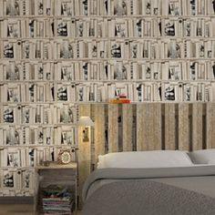 Effet trompe-l'oeil garanti avec ce papier peint BIBLIOTHECA !  Habillez vos murs d'un voile de douceur pour une décoration enveloppante et minimaliste.  Une palette de tons en camaïeu de blancs duveteux, de gris chaleureux et de tons corail et poudrés emplissent la pièce d'ondes de bien-être.  Si les motifs se font discrets (rayures, imprimés ton sur ton, rosaces et feuillages épurés), c'est pour mettre en valeur les textures délicates et raffinées des papiers peints, rideaux et coussins…