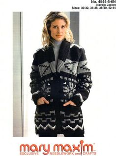 Knit this jacket with our free pattern using Mary Maxim Titan yarn. Knitting Patterns Free, Free Knitting, Free Pattern, Knitting Ideas, Knitting Sweaters, Knitting Projects, Crochet Patterns, Cardigan Pattern, Jacket Pattern