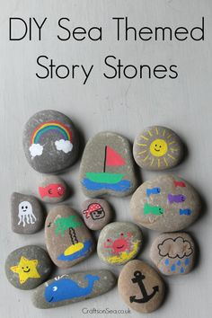 Sea themed story stones.
