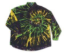 Earthy Side Burst Ice Dye Dark Unique One of a Kind handmade Tie Dye Short Sleeve Long Sleeve Shirt
