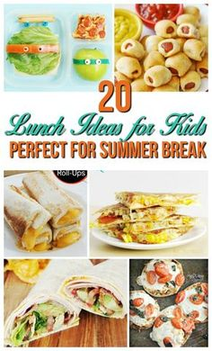 Fun and easy recipe lunch ideas for kids at home! Skip the sandwiches and have a healthy family lunch all summer long!