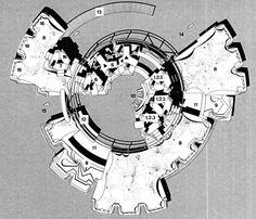marine city master plan by architect kiyonori kikutake Japanese Architecture, Architecture Drawings, Concept Architecture, Sustainable Architecture, Architecture Design, Captador Solar, Metabolist, Masterplan Architecture, Marine City