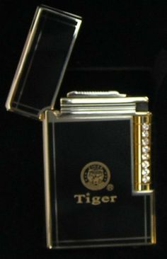Tiger Brand Premium Luxury Flint Lighter Refillable Butane Black and Gold by Tiger Brand. $23.73