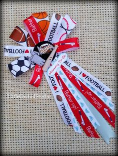 Sports theme Corsage/ Pin/ It's a boy/ by LittleOrchidStudio