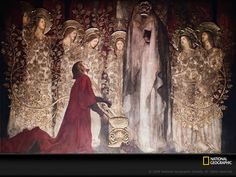 This 1895 painting by Edwin Austin Abbey shows the Arthurian knight Sir Galahad discovering the fabled Holy Grail.
