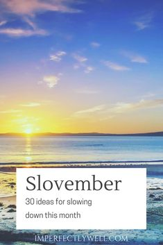 Slowvember; it's a thing. While I thought I'd created an averagely catchy pun for November that focuses on health without growing facial hair, it turns out #slowvember already exists. Hardly surprising; we live in a chaotic world. People are increasingly looking for ways to slow down, switch off, or take a breath. We're all trying…