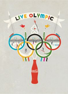 Now you know my Olympic-Obsessed self loves this one by Andrew Bannecker. (Well ... minus the coke part, but I understand it's part of a campaign.)