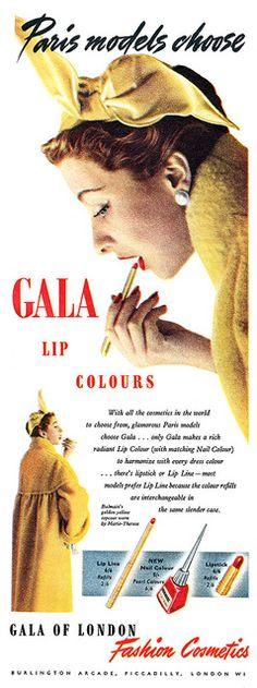 The choice of Paris models!  Ad vintage lipstick